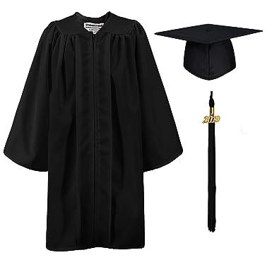 c3afc82121e GraduationMall Matte Kindergarten Graduation Gown Cap Set with 2019 Tassel  Black 27(3 6 quot