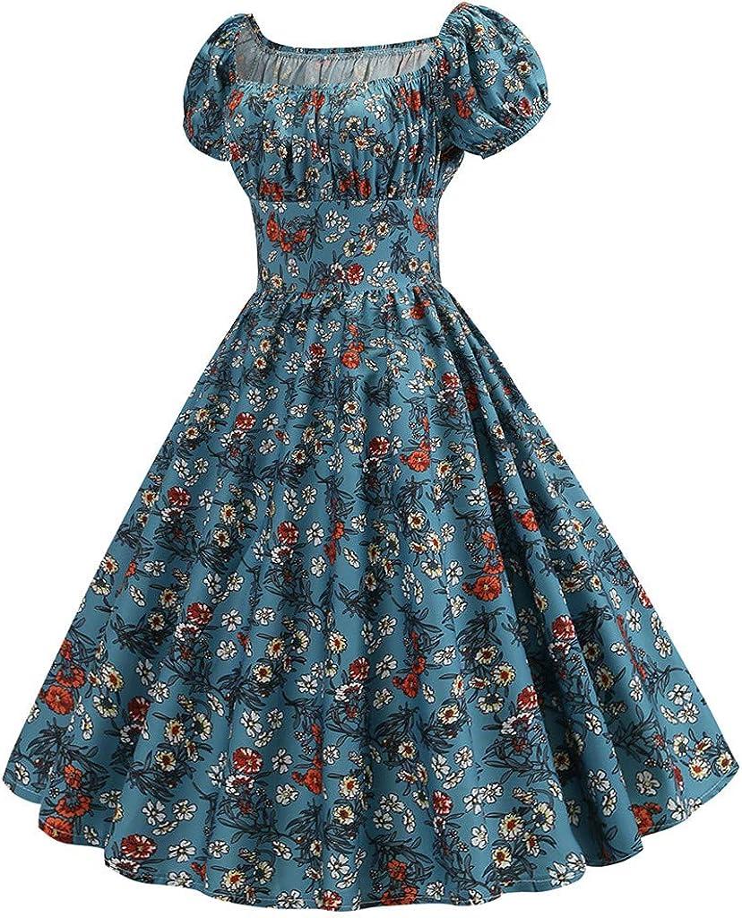 Vintage Dress Baby Blue Dress 80/'s Retro Dress Short Sleeve