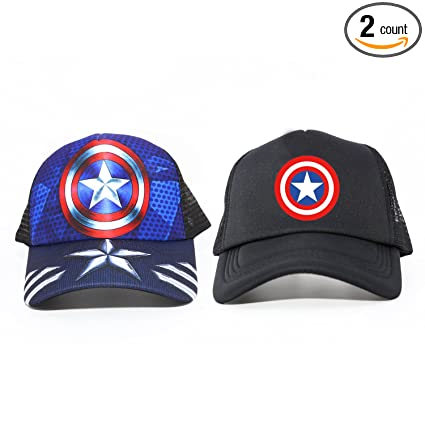 2a05543f770c2 Image Unavailable. Image not available for. Color  Ehomely 2 Pack Peaked  Caps Snapback Hats Unisex Captain ...