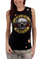 Guns N Roses - Circle Guns Destroyed Womens Tank Top T-Shirt