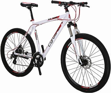 Cyrusher XF300 Rueda de 27.5 Pulgadas 24 velocidades 19 Pulgadas Marco Hardtail Bicicleta de montaña MTB ShimaAluminio Marco de liberación rápida Ruedas Dual Frenos de Disco Horquilla de suspensión: Amazon.es: Deportes y