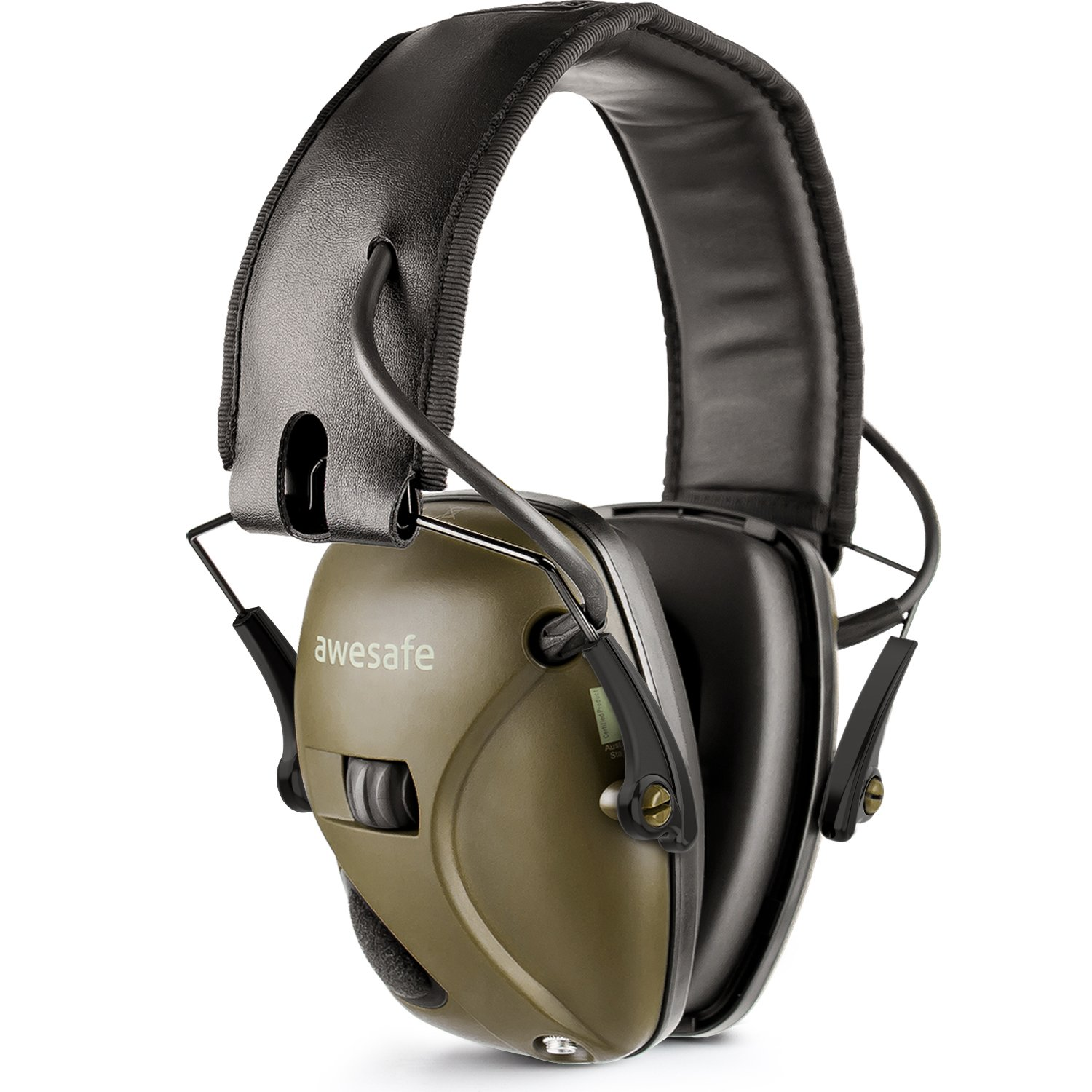 New Electronic Shooting Earmuff, Awesafe GF01 Noise Reduction Sound Amplification Electronic Safety Ear Muffs, Ear Protection, NRR 22 dB, Ideal for Shooting and Hunting