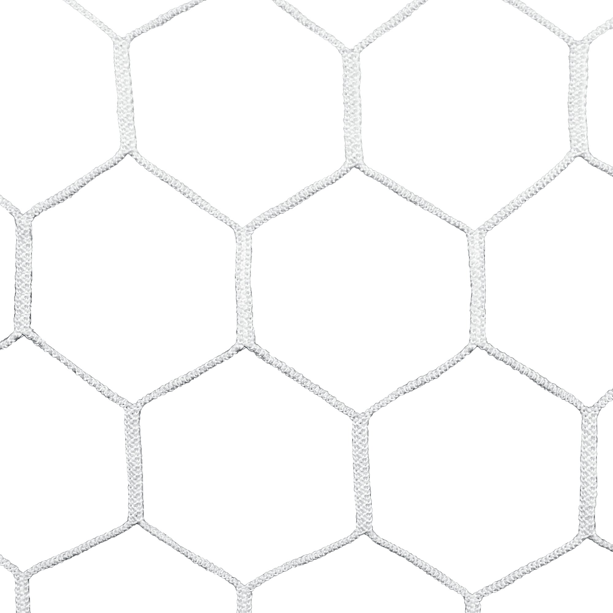 Agora 4mm HTPP Nets for 7'x21' Soccer Goals with Depth (Each)