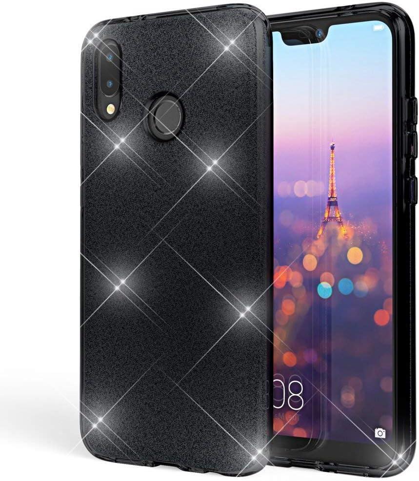 Coovertify Funda Purpurina Brillante Negra Xiaomi Mi A2 Lite ...