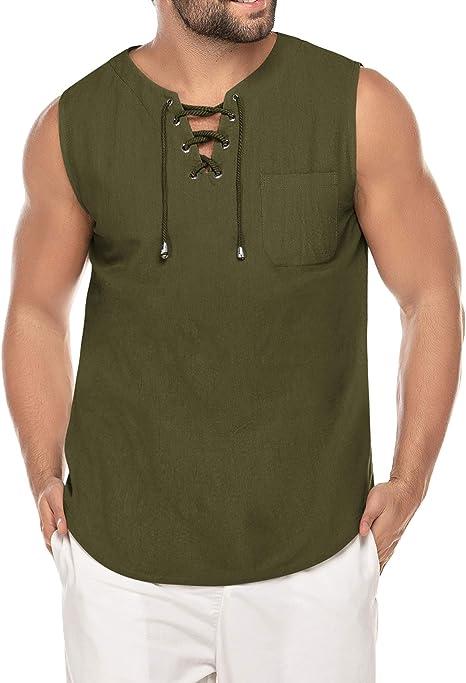 Amazon.com: COOFANDY - Camiseta de algodón para hombre ...