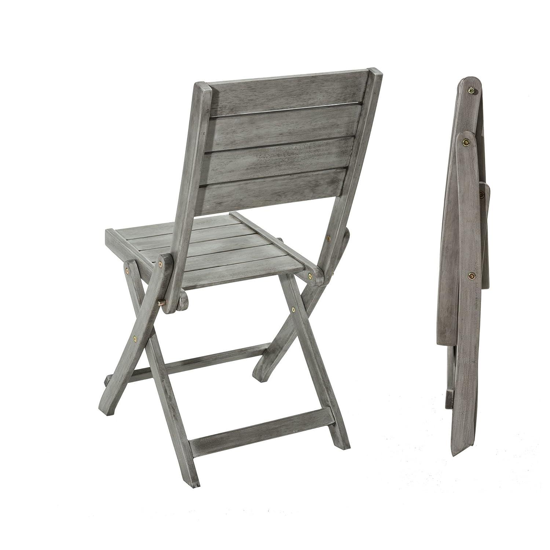 Gartenstühle holz grau  2er Set Gartenstuhl Husum Klappstühle Holz Grau online kaufen