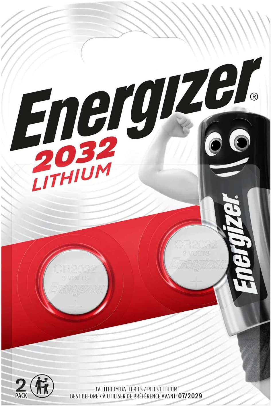 Energizer Cr2032 Batterien Lithium Knopfzelle 2 Stück Elektronik