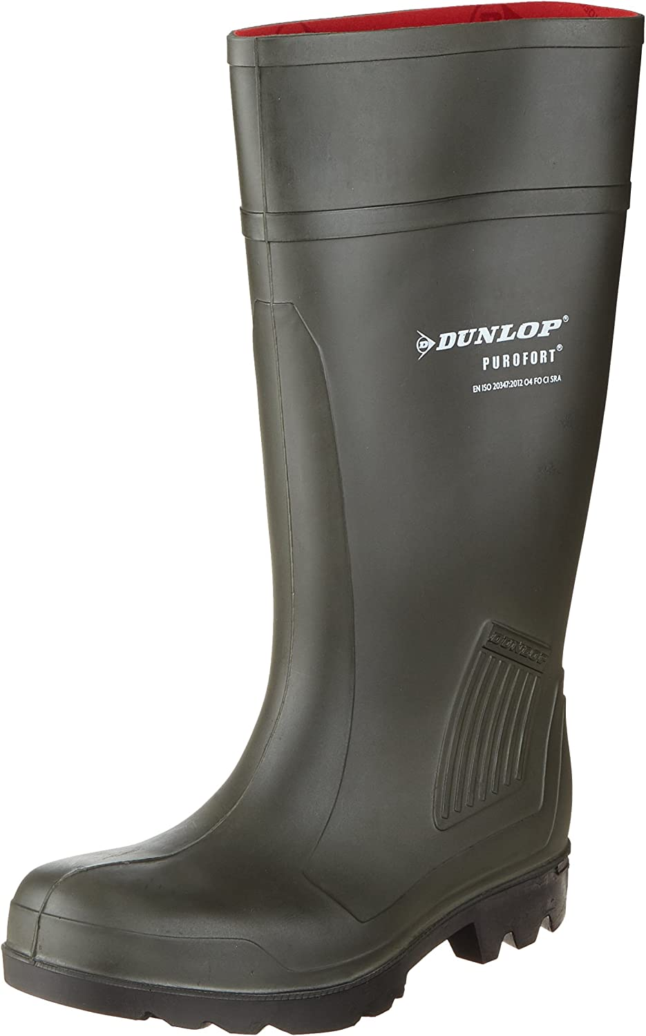 TALLA 41 EU / 7 UK / 8 US. Dunlop Pull-On Self-Lined Wellingtons - Green - Size 39 40 41 42 43 44