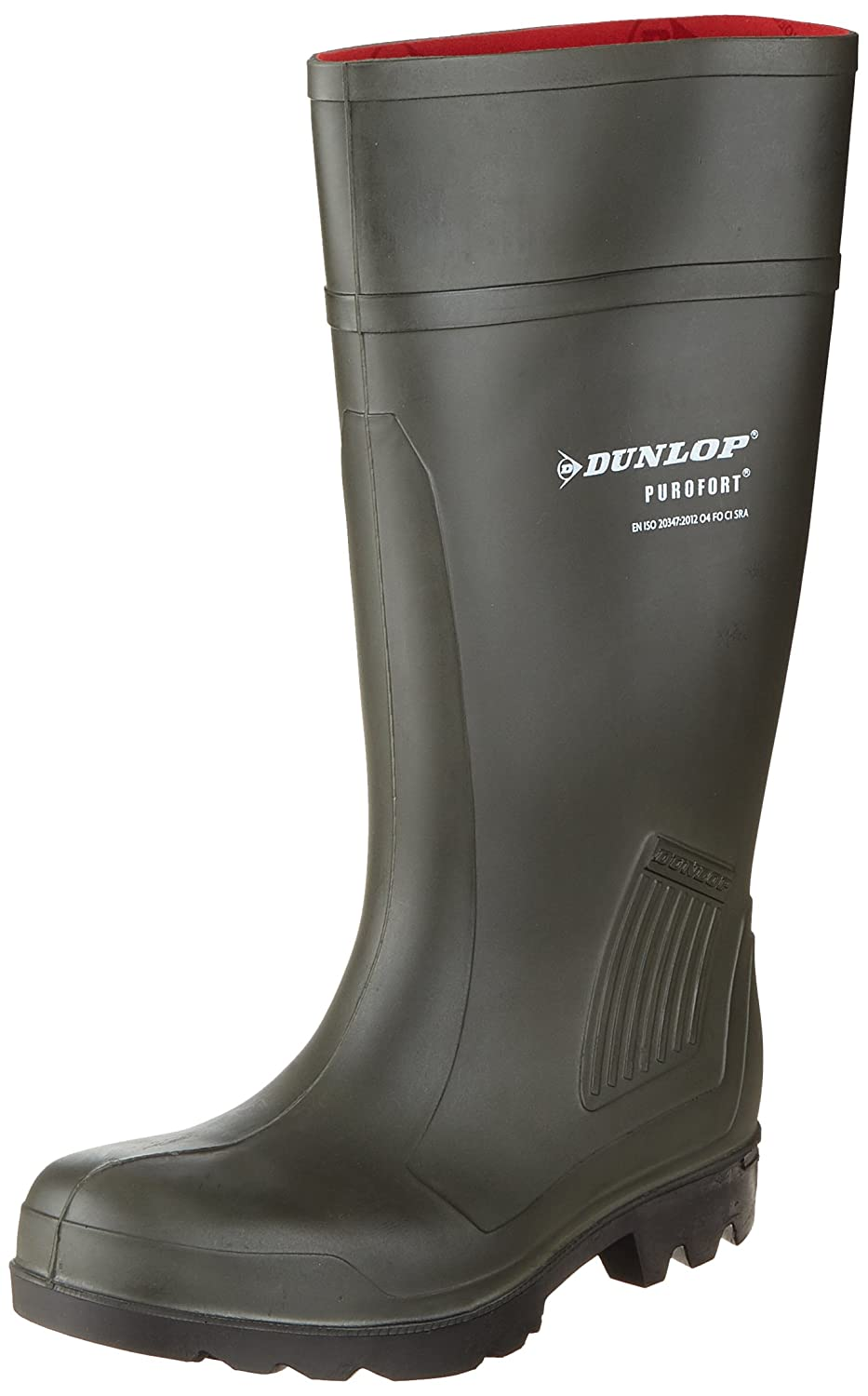 Dunlop Pull-On Self-Lined Wellingtons - Green - Size 39 40 41 42 43 44