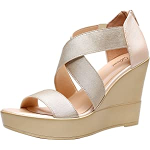6739884c1ef Amazon.com | Rampage Women's Holmes Espadrille Wedge Sandals with ...