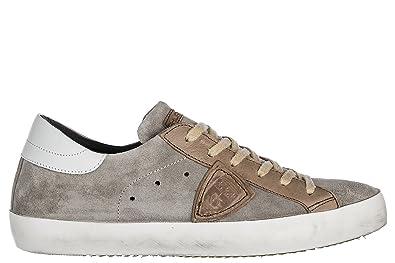 a39c83c70ed53 Philippe Model Men s Shoes Suede Trainers Sneakers Paris Grey US Size 7  A18ECLLU XY61