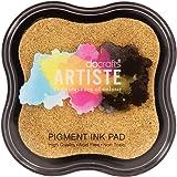 Artiste Pigment Ink Pad, Metallic Gold