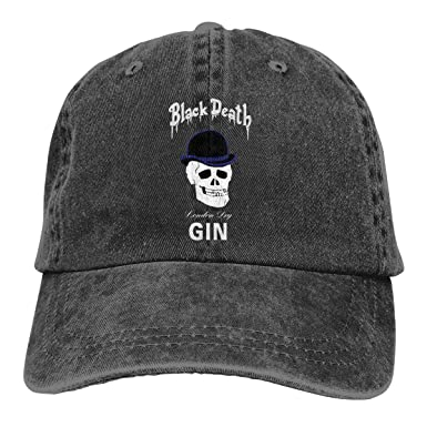 Funny Bag Black Death London Dry Gin Bowler Skull Muster Sombreros ...