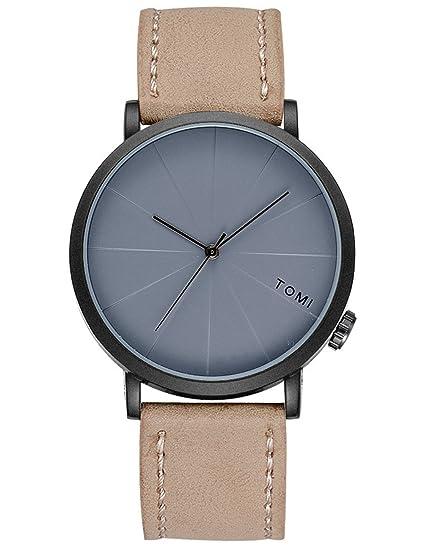 Mens relojes de cuarzo Cooki Remoción Retro analógico relojes baratos en venta de piel Para Muñeca