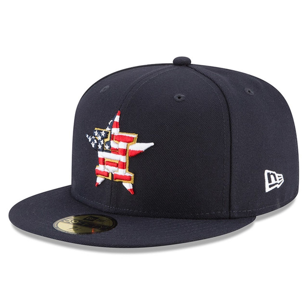 official photos 366b3 01c0b Amazon.com  New Era Houston Astros 2018 July 4th Stars and Stripes 59FIFTY  On Field Fitted Hat  Clothing