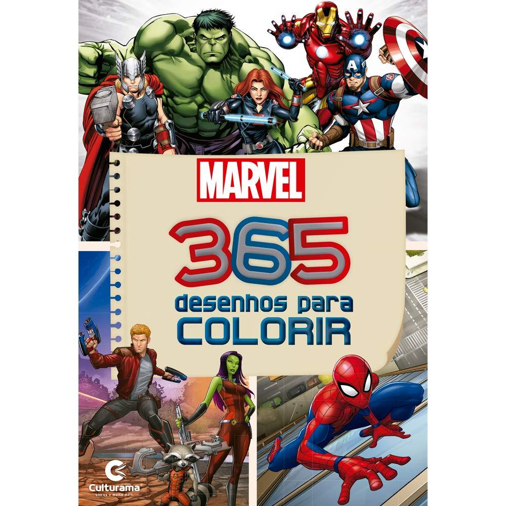 365 Desenhos Para Colorir Marvel Livros Na Amazon Brasil