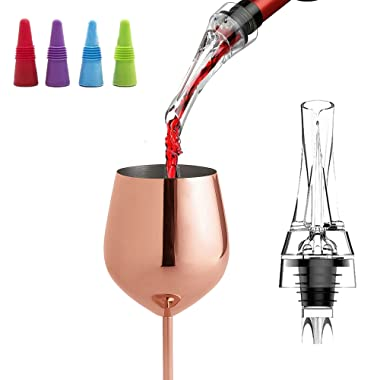 LE FLEUR Wine Aerator Pourer Decanter and Wine Stopper Set - Perfect Gift for Wine Lovers - Cellar Door Selections
