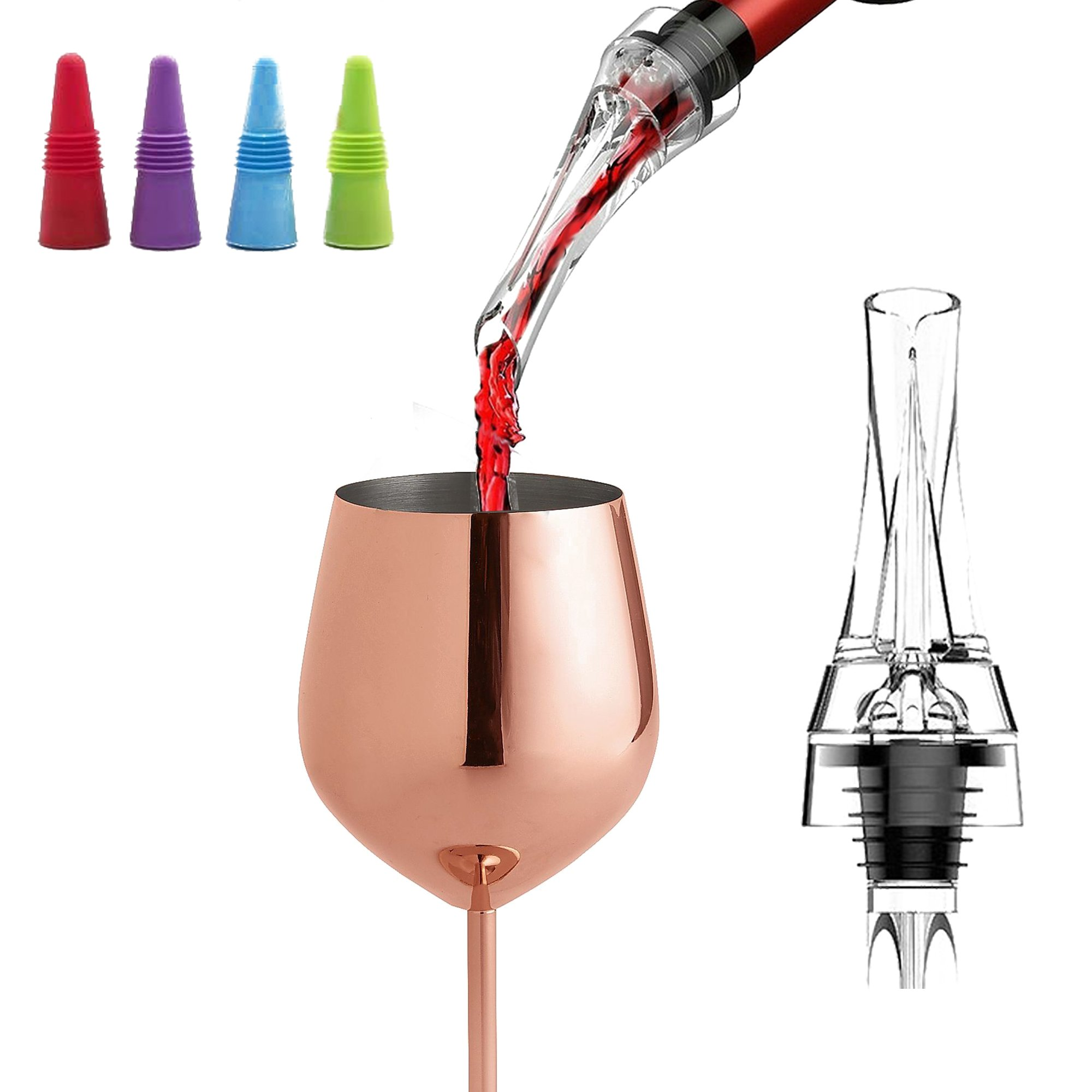 LE FLEUR Wine Aerator Pourer Decanter and Wine Stopper Set - Perfect Gift for Wine Lovers - Cellar Door Selections by Cellar Door Selections (Image #1)