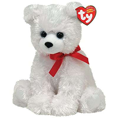 Ty Beanie Baby - ICE BOX - Polar Bear with Ribbon: Toys & Games