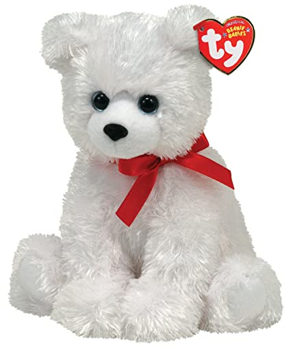 Ty Beanie Baby - ICE BOX - Polar Bear with Ribbon