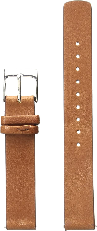 Skagen Women's 14mm Leather Watch Strap, Color: Brown (Model: SKB2033)