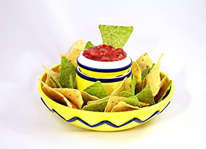 Amazoncom Sombrero Chip Dip Bowl Chip And Dip Serving Sets
