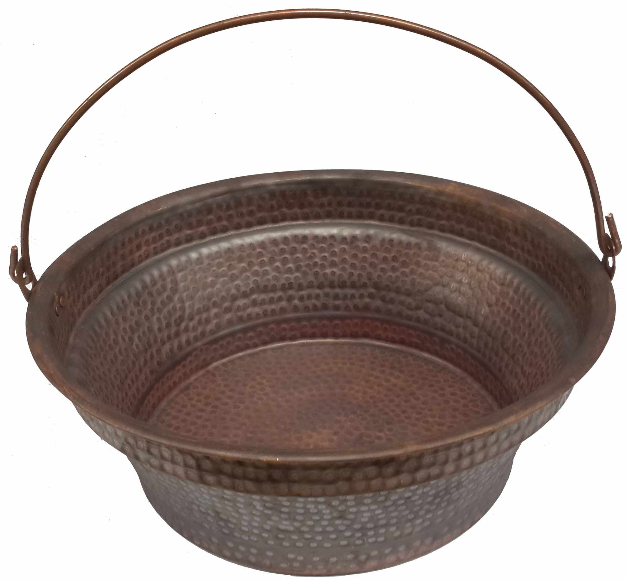Egypt gift shops Copper Bucket Basin Skin Disorder Remedy Massage Relaxing Soothing Therapy Pedicure Spa Bride Beauty Salon Yoga Foot Rub