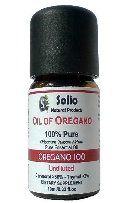 Orégano 100. 100% puro aceite esencial orégano 86% Carvacrol 0,33 oz ...