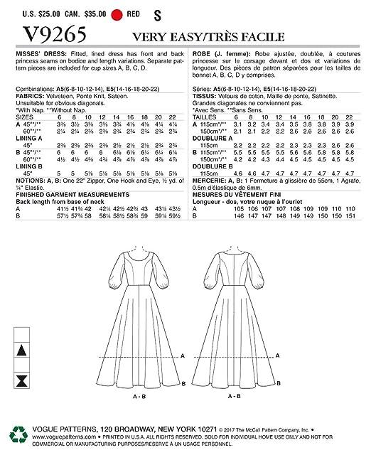 Vogue Patterns sábana Bajera Ajustable e Instrucciones para Hacer ...