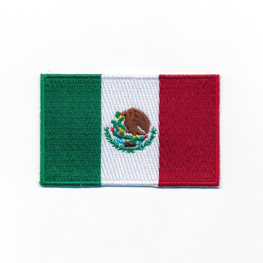 3 Mexico Mexiko Flaggen Patches Mexiko-Stadt Flags Aufn/äher Aufb/ügler Set 0954