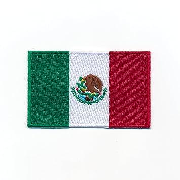 Amazonfr 80 X 50 Mm Mexico Drapeau Ville De Mexico Flag Patch