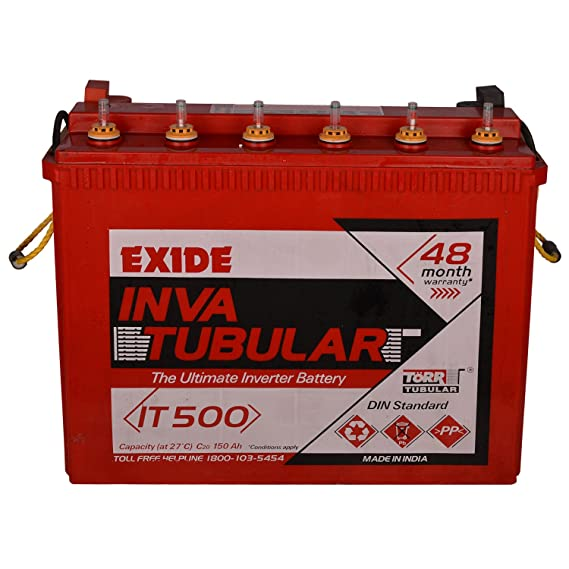 Exide Inva Tubular Battery 150Ah/12V (Red) Inverters at amazon