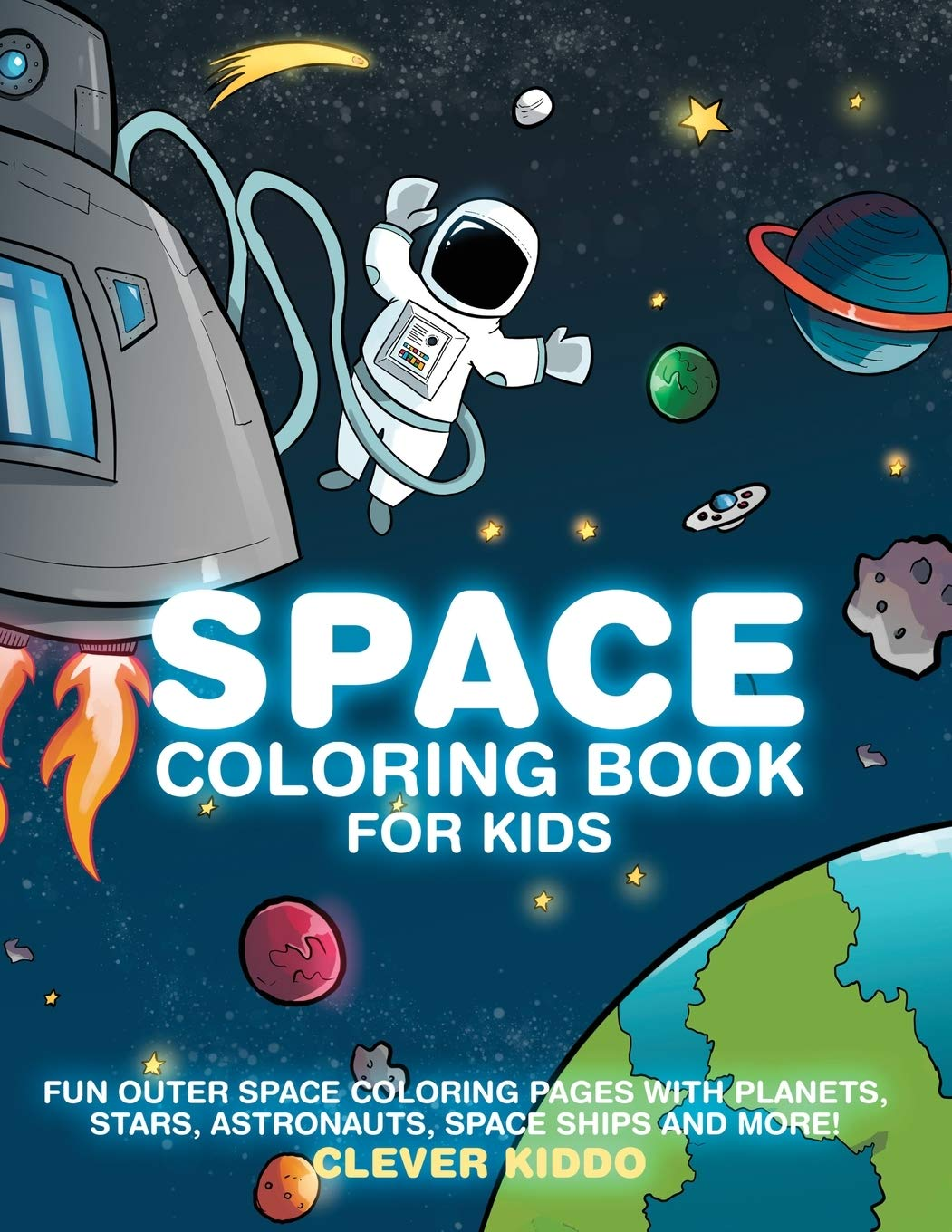 Free Astronaut Outer Space Coloring Page, Download Free Clip Art ... | 1360x1051