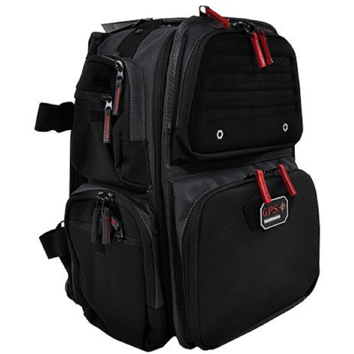 G.P.S. The Executive Backpack with Crackle for 5 Handguns, Gray by G.P.S.