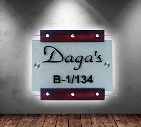 Sangam Ad Personalized Acrylic Customised Name Plate Made Of Product For Home Décor 18 Inch X 12 Inch