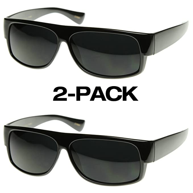 Framework-Gafas de sol para hombre, diseño de piloto - 2-Pack