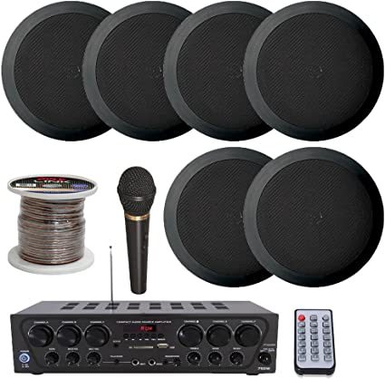 2 AUDIO ENHANCEMENT  8 Ohms CEILING SPEAKERS PA PUBLIC ADDRESS SYSTEM  NEW TWO