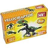 MY Building Bricks Dinosaur 3 In 1 Construction Set ~ Velociraptor