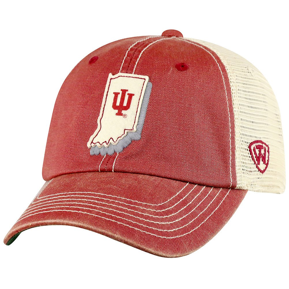 Top of the World Indiana Hoosiers Men's Mesh-Back Hat Icon, Cardinal, Adjustable