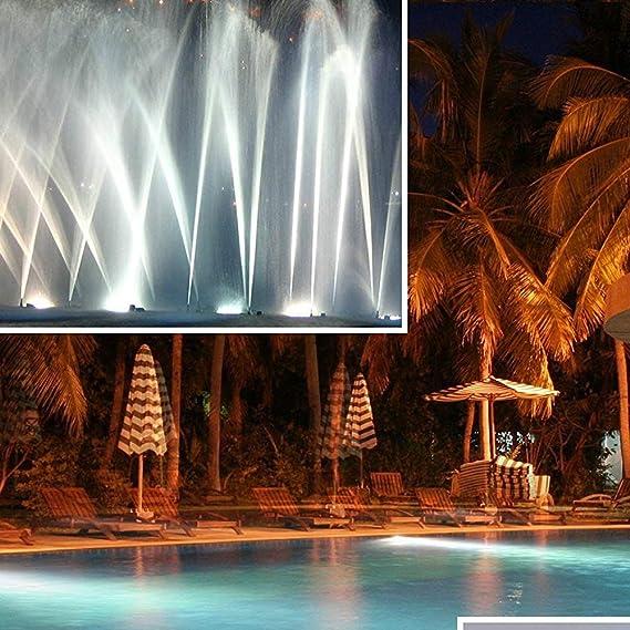 HaoLin Swimming Pool LightingRGB,divingLEDlightwaterproofIP68,Underwater Swimming Pool Lights,Colorful Remote Control Underwater Lights,White-18W: Amazon.es: Hogar