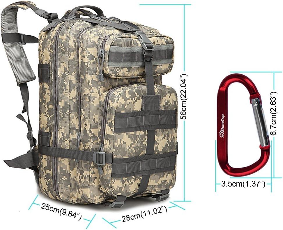 Soumal Mochila táctica Militar Grande Militar 3 días de Asalto Pack Molle Bug out Bag Mochilas Mochilas para Senderismo al Aire Libre Camping Trekking Caza 40L con 1 Hebilla, Delete: Amazon.es: Deportes
