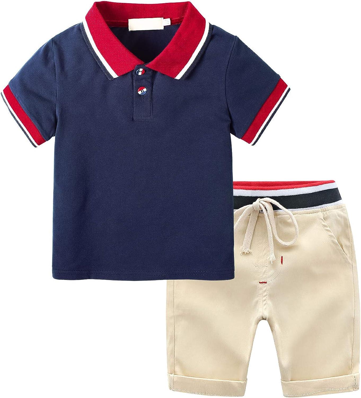 Yilaku Newborn Toddler Kids Baby Boys Girls Short Sleeve Cotton T-Shirt /& Stripes Short Pants Outfits Set White 18-24 Months