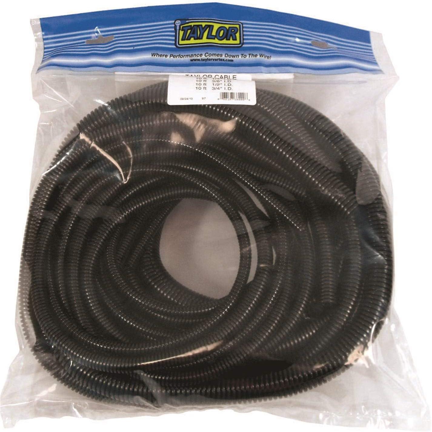 "black Wire Loom 2/"" X 10/' split convoluted tubing conduit"