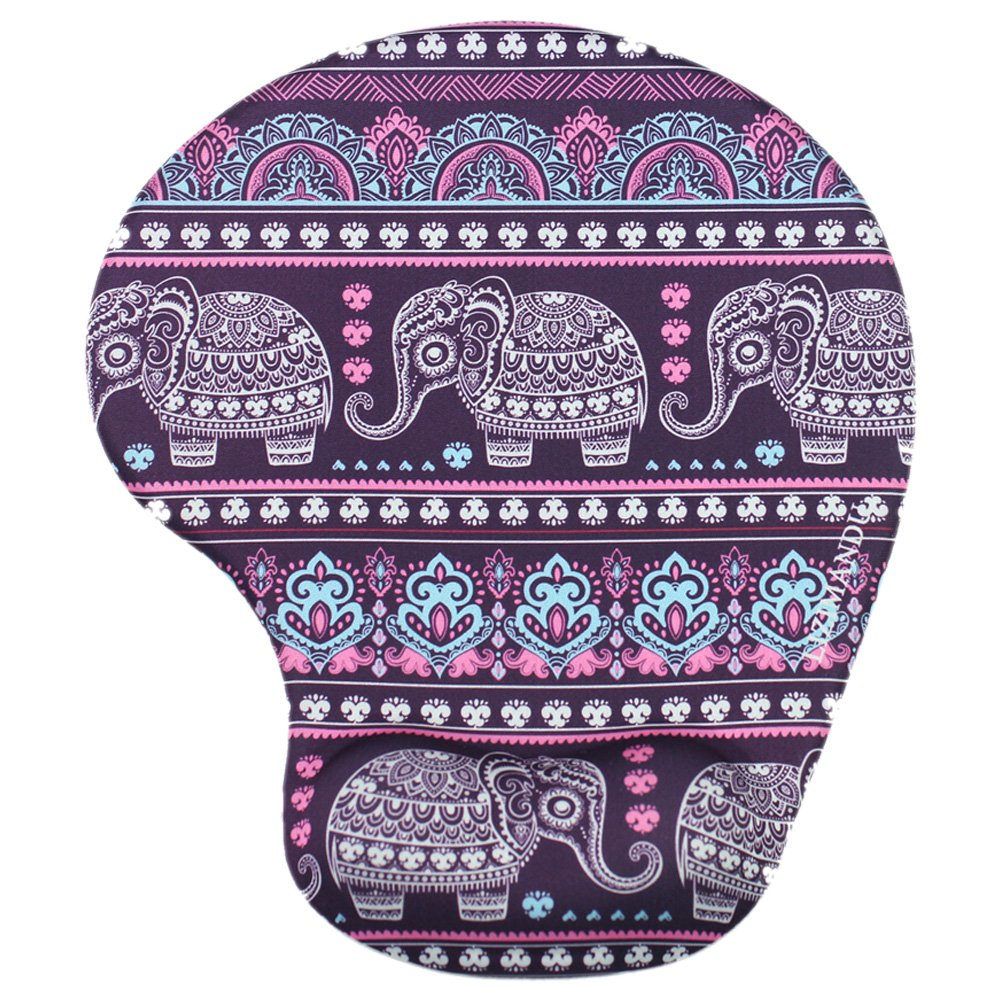 Lizimandu Non Slip Mouse Pad Wrist Rest For Office, Computer, Laptop & Mac - Durable & Comfortable & Lightweight For Easy Typing & Pain Relief-Ergonomic Support(Elephant Purple)