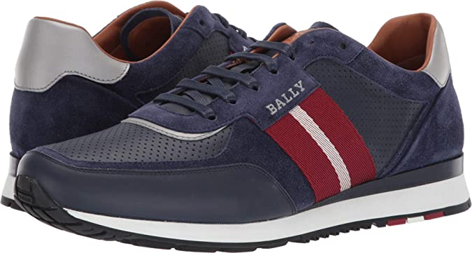 Cartas credenciales sopa libertad  Bally Men's New Aston Sneaker Ink 12 D UK: Amazon.co.uk: Shoes & Bags