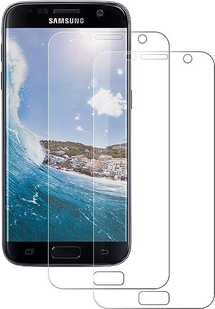 DASFOND Protector de Pantalla para Samsung Galaxy S7, Paquete de 2, Anti-Aceite, Anti-Scratch, Sin Burbujas, Alta Definición y Sensibilidad, HD Film Flexible Transparente para Samsung S7: Amazon.es: Electrónica