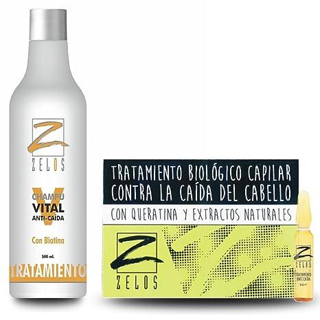 PACK AHORRO Tratamiento Para La Caída del Cabello Champú Anticaída y Placenta Vegetal 12 ampollas x