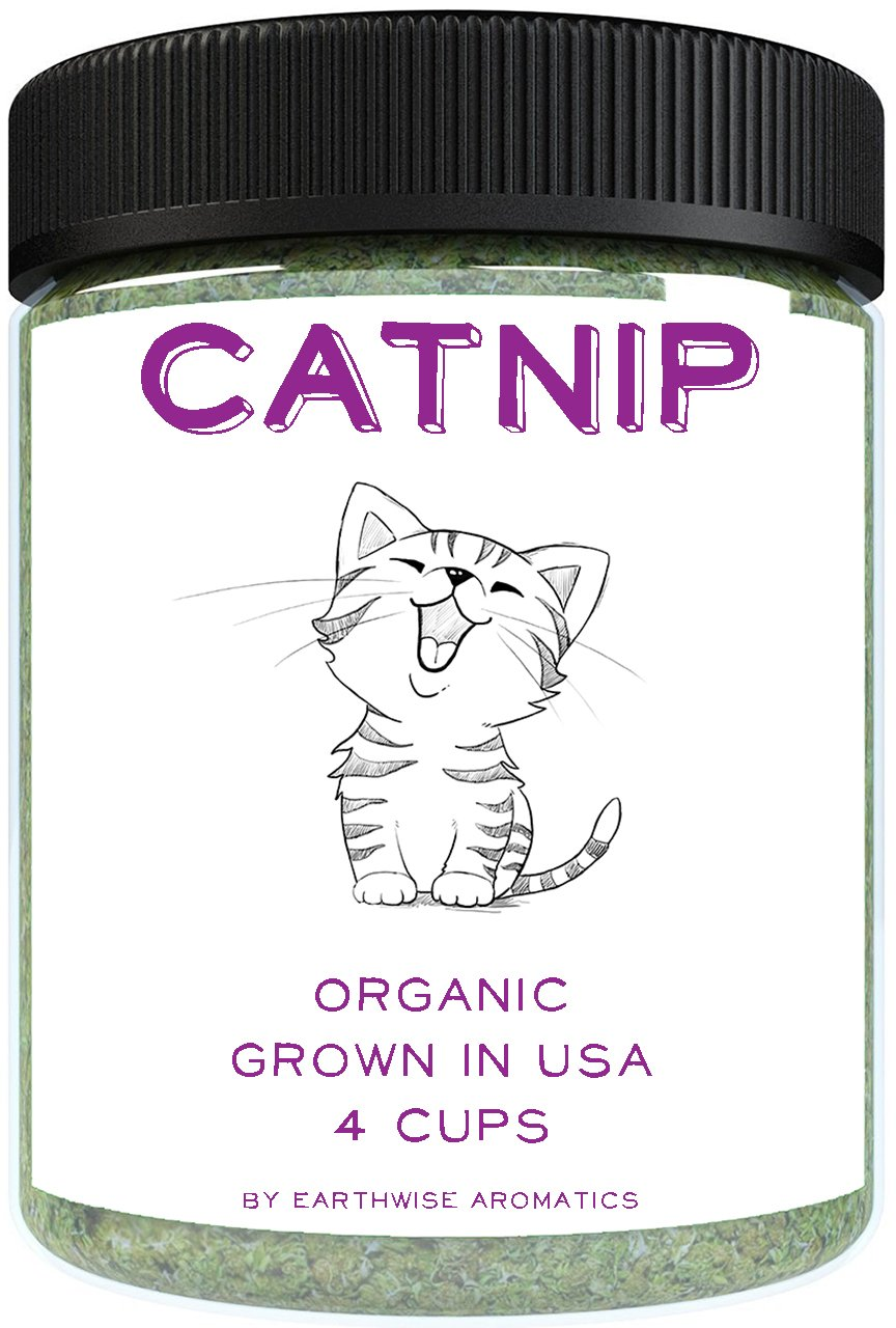 EarthWise Aromatics Organic Catnip - 4 Cups - Grown in USA