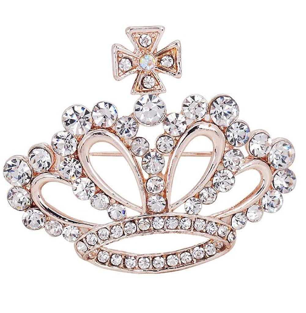 aloiness Broches para Mujer Broche Creativa Moda Broche de Flores de la fantas/ía Broches y alfileres Retro Pin Ramillete Acero Inoxidable para El Banquete de Boda del Cristal Nuevo Estilo