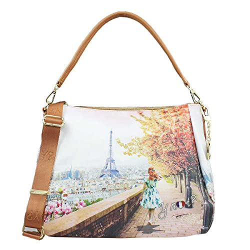BORSA DONNA Y NOT  SHOULDER BAG EIFFEL WALK YES BAG J-321  Amazon.it   Scarpe e borse b892b2ab150